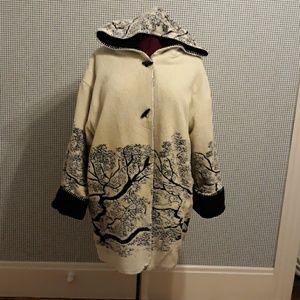 Reversible fleece winter coat